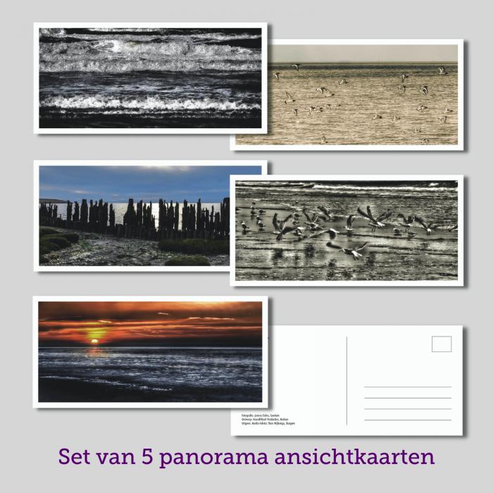 set 5 panorama kaarten